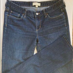 Banana Republic Dark Wash Mid Rise Tall Jeans